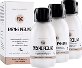 DAYTOX - Enzyme Peeling - Porenverfeinerndes Enzympeeling für das Gesicht, Exfoliator mit Ananas und Papaya - für empfindliche Haut geeignet - Vegan, Ohne Silikone, Made in Germany - 3x35 gr