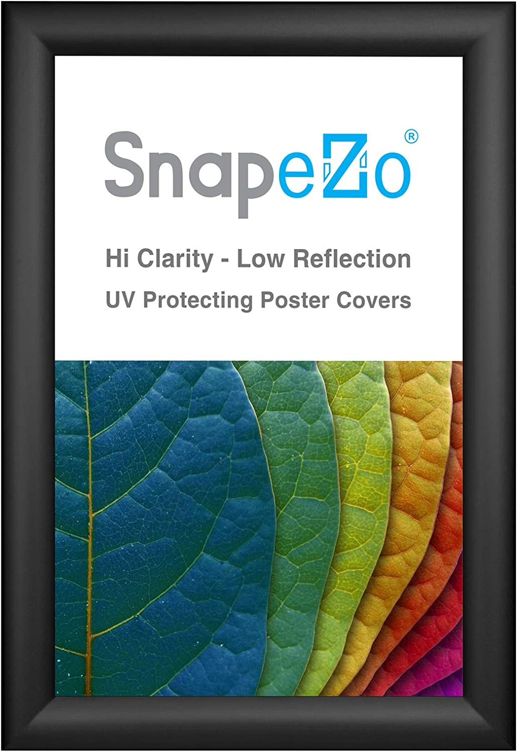 Shipping included SnapeZo Poster Frame 10x15 trend rank Inches Aluminum Profi 1.2 Inch Black