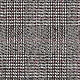 Mantelstoff Woll Mix Glencheck – schwarz/rot —