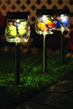 Crosslight Solar Butterfly in a Jar Lights, 3 Pack, Assorted Colors, Sturdy Glass Jar, Weather Resistant with Batteries Included, Dusk to Dawn