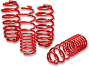For VW Golf/Rabbit Suspension Lowering Springs Set (Red) - MK 6 VI A6 Typ 5K
