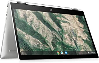 HP 2-in-1 Convertible Chromebook, 14inch HD Touchscreen, Intel Quad-Core Pentium Silver N5030 Processor Up to 3.10GHz, 4GB...