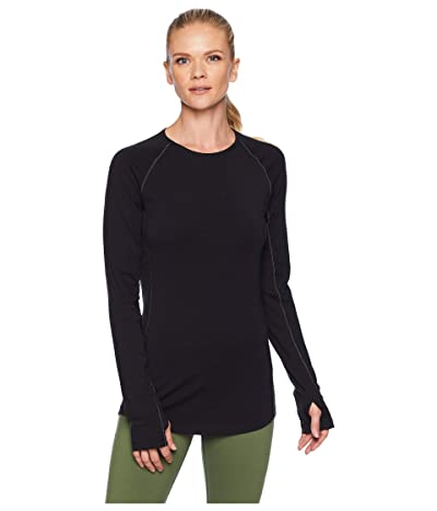 Icebreaker 200 Zone Merino Baselayer Long Sleeve Crewe (Black/Mineral) Women