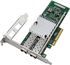 Jeirdus 10G PCI-E - Adaptador de servidor NIC X520-DA2 (82599ES+2SFP+) Network card