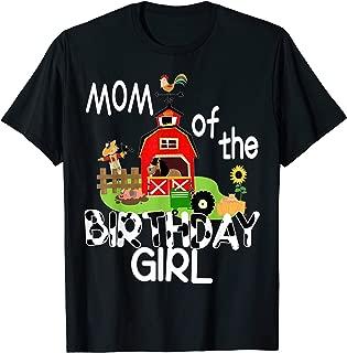 Mom of The Birthday Girl Cow Shirt Farm Barnyard Party Gift