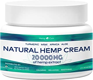 Organic Hemp Pain Reliever, 20 000 Mg, Non-GMO, Natural Hemp Extract for Joint, Muscle, Back, Neck, Knee Pain, Made in USA