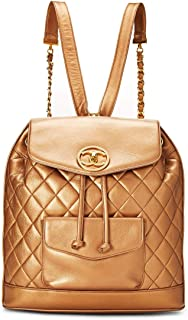 CHANEL Bronze Quilted Lambskin Backpack Large (Pre-Owned)