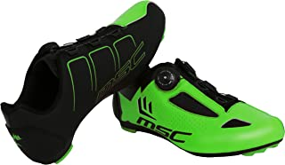 MSC Bikes Aero Road Cycling Shoes, Green, T-45