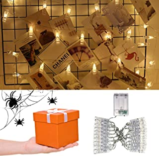 Sunfuny Photo Clip LED Fairy String Lights 20 LED Lights Lamp 9.8 Feet Picture Display at Halloween Christmas Party Home D...