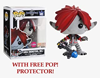 Funko POP! Disney: Kingdom Hearts - Sora [Monster Inc. - Flocked!] #485 - BoxLunch Exclusive! - with Free POP! Protector!