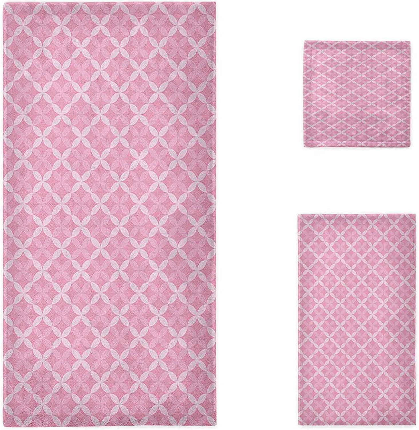 Geometric Bath 5 ☆ Los Angeles Mall very popular Towel Sets Valentines Abstra Themed Romantic Day