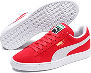 PUMA Adult's Suede Classic Red/Wht, Red EU 37, 6.5 US Women / 5 US Men