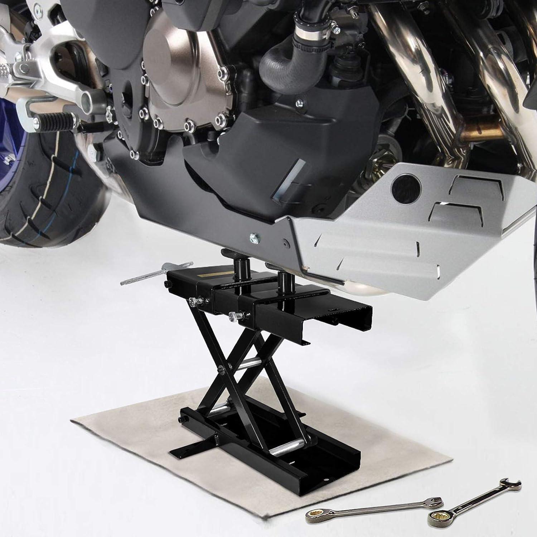 Dilated Scissor Jack Repair Hoist Stand for Cruiser Motorcycle Dirt Bike Scooter Crank Stand BLUE Bike ATVs CATINBOW Steel Motorcycle Lift Jack