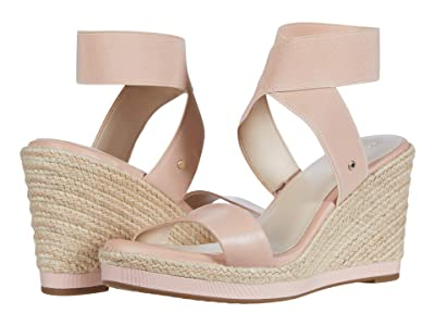 Cole Haan Cloudfeel Espadrille Elastic Wedge 90 mm (Mahogany Rose Leather/Tonal Stretch Gore Natural Jute Wrap) Women