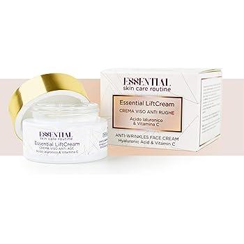 Essential Lift Cream Crema Cara Antiarrugas 50 ml con Ácido Hialurónico y Vitamina C: Amazon.es: Belleza
