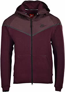 Nike Men's Tech Windrunner Reflective 3MM Sport Casual Jacket-Maroon-XL