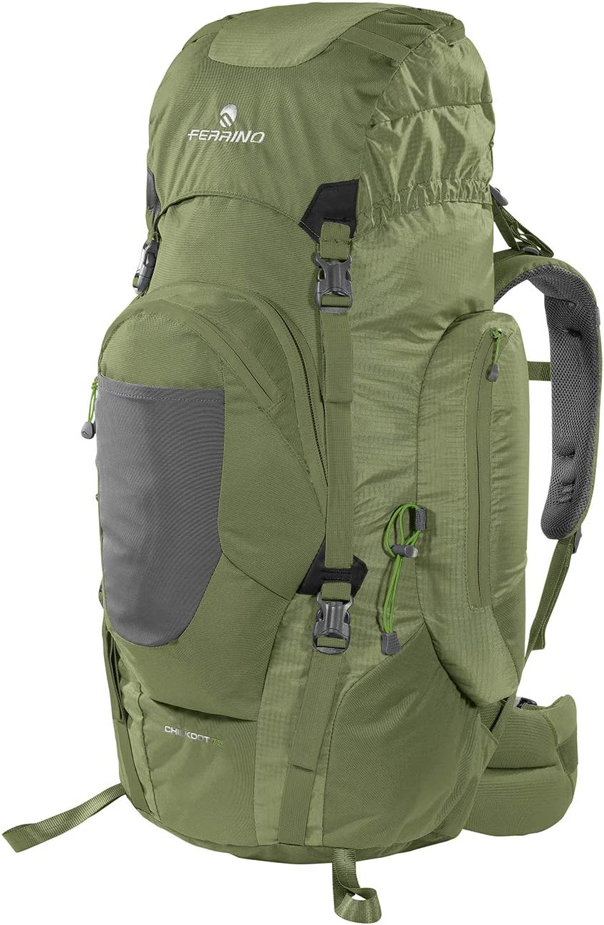 Ferrino Discount mail Popular shop is the lowest price challenge order Chilkoot 75 Unisex Trekking Green Backpack Litres
