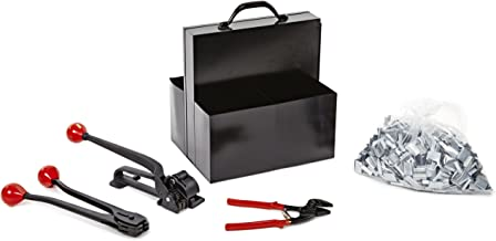"""Nifty Products SSK68 505 Piece Portable Steel Strapping Kit, 200' Length x 3/4"""" Width Coil"""
