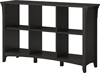 Bush Furniture Salinas 6 Cube Organizer in Vintage Black