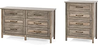 Better Homes & Gardens Modern Farmhouse 6-Drawer Dresser, Rustic Gray Bundle with Better Homes & Gardens Modern Farmhouse 4-Drawer Chest, Rustic Gray