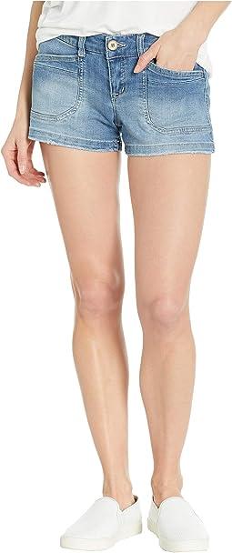 Delaney Denim Shorts in Wham Blue