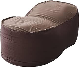 山善 ビーズクッション 幅110×奥行55×高さ43cm 特大 2通りの座り心地 洗えるカバー ダークブラウン BS60-1140(DBR)T