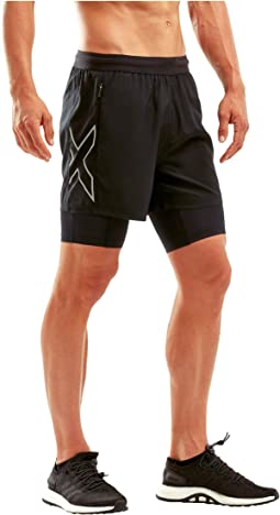"XVENT 5"" 2-in-1 Compression Shorts"