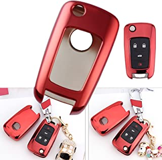 Red Smart Remote Key TPU Soft Fob Cover Case For Chevrolet Buick 2 3 4 5 Button Key