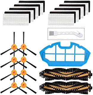 Mochenli Replacement Parts Accessories for DEEBOT N79 N79s DN622 500 N79w N79se Robotic Vacuum Cleaner,8 Side Brushes,8 Filters,2 Main Brushes, 1 Primary Filter Accessories Replacment Parts Kit
