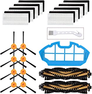 Mochenli Replacement Parts Accessories for Ecovacs DEEBOT N79 N79s Robotic Vacuum Cleanr,8 Side Brushes,8 Filters,2 Main Brushes, 1 Primary Filter Accessories Replacment Parts Kit