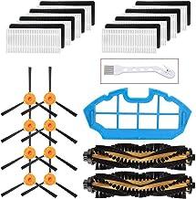 ملحقات قطع غيار Mochenli لـ DEEBOT N79 N79s DN622 500 N79w N79se مكنسة روبوتية 8 فرش جانبية، 8 مرشحات و2 فرش رئيسية، طقم ق...
