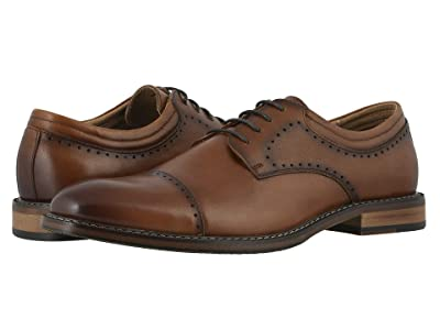 Stacy Adams Flemming Cap Toe Oxford (Cognac) Men