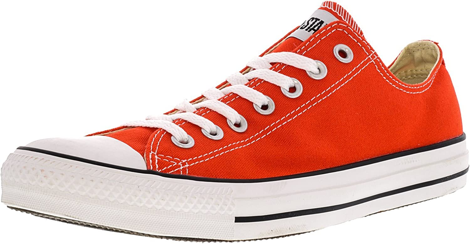 Converse Chuck Taylor All Star Ox Cherry Tomato Ankle-High Fashion Sneaker - 9M / 7M
