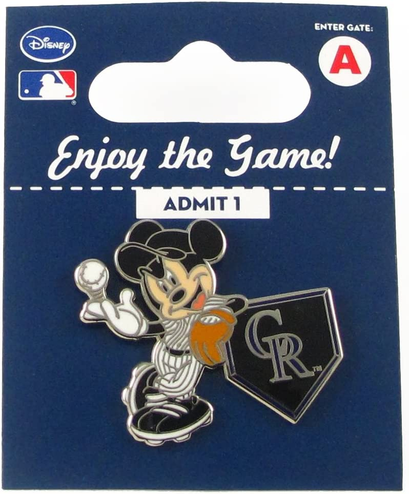 aminco MLB Colorado Rockies Disney Pin sold out on Direct sale of manufacturer - Mickey Leaning Home