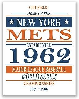 New York Mets - Vintage MLB Baseball Poster - Sports Memorabilia Fan Art 11x14 Matte Photo Print