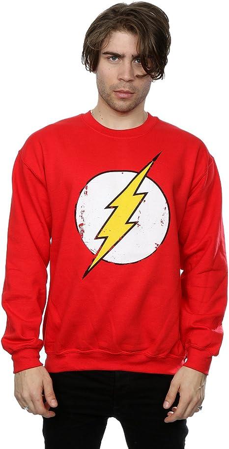 DC Comics hombre Flash Distressed Logo Camisa de entrenamiento