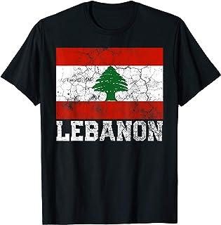 Lebanon Lebanese Flag Pride Family Roots Men Women Gift T-Shirt