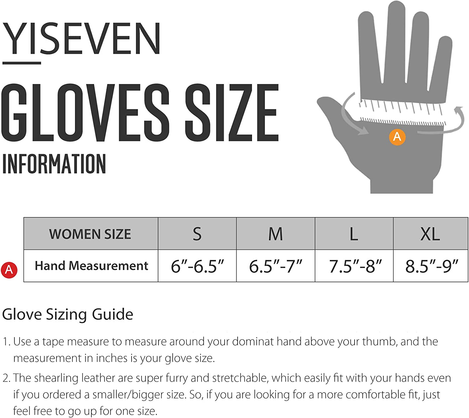 YISEVEN Womens Winter Shearling Gloves