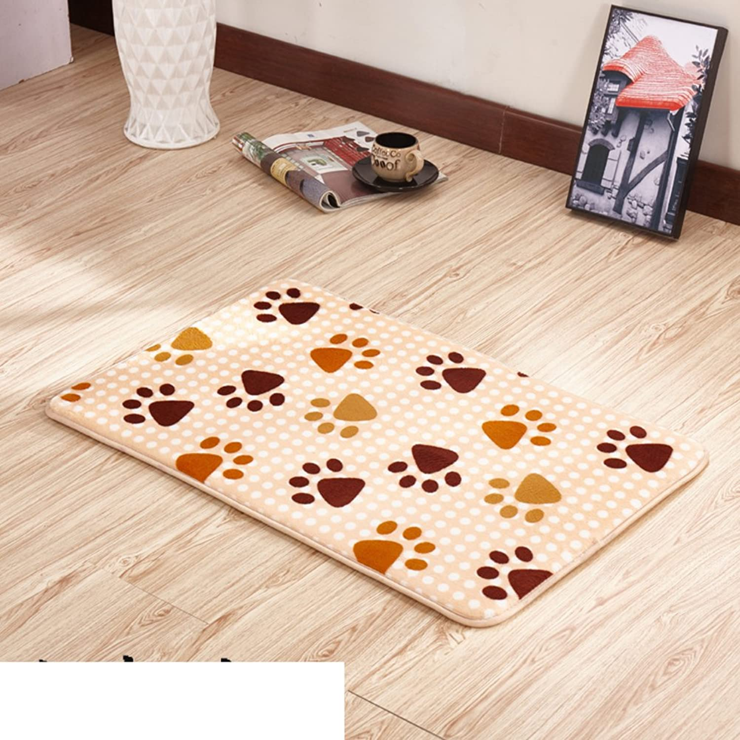 Thickened Household Door mats Bedroom Indoor mats Bathroom pratunam pad Kitchen Floor mats-J 100x200cm(39x79inch)