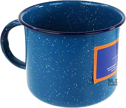 popular Made In lowest Mexico Enamel Mug 2.1Qt Steel Blue wholesale Pocillo Peltre Azul Camping Coffee Cup Traditional sale