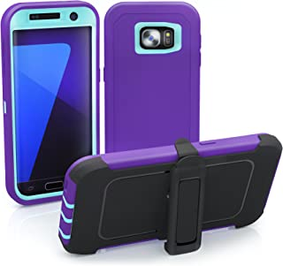Galaxy S7 Edge Case, ToughBox [Armor Series] [Shock Proof] [Purple | Aqua] for Samsung Galaxy S7 Edge Case [Built in Scree...