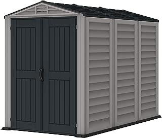 Duramax 35825 Yardmate Plus Outdoor Vinyl Storage Shed, Adobe/Grey