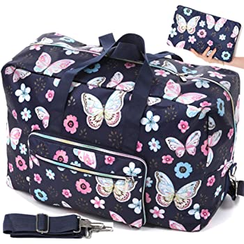 Nylon Floral Top Handle Tote Handbags Zipper Shoulder Bag Shopper Duffel Bags Coin Purse MakeUp Bag for Women Girls