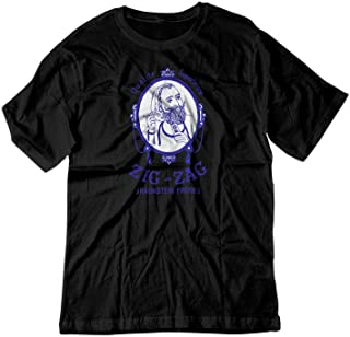 Men's Zig Zag Rolling Smoke Burn Papers Vintage Shirt