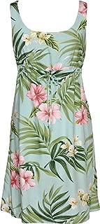 RJC Womens Pale Hibiscus Orchid Empire Tie Front Short Tank Dress