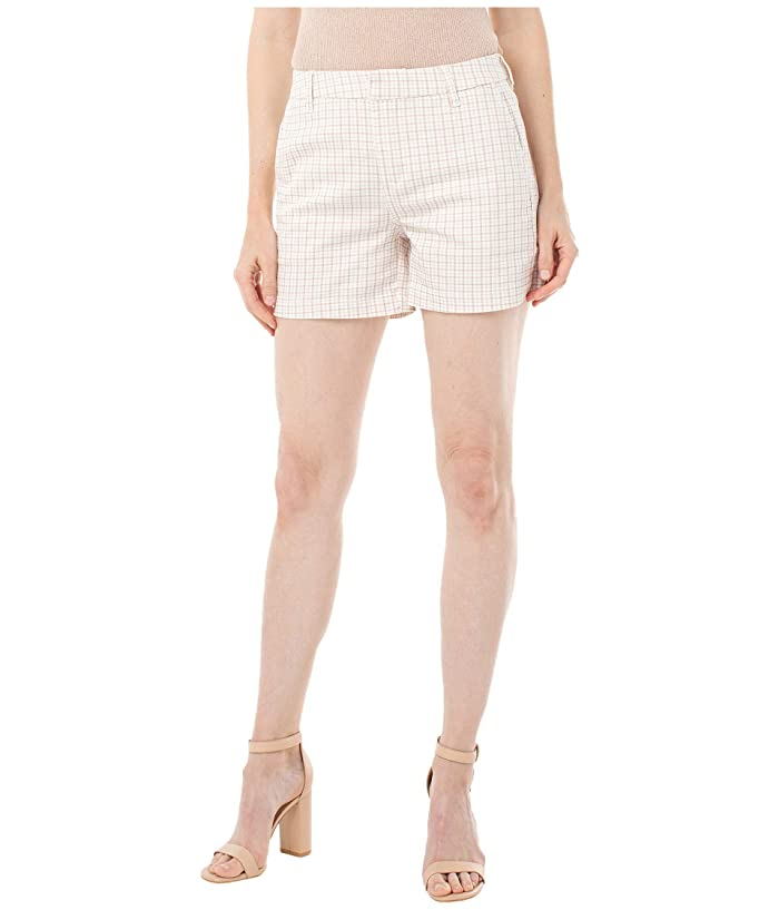 Liverpool  Trousers Shorts with Welt (Dusty Coral/Check Plaid) Womens Shorts