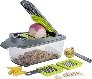 Smile mom Mandoline Trancheuse 3 en 1 Multifonction Couteau de Cuisine Légumes Slicer, Coupe-légume Professionnelle pour F...