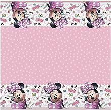 Unique Disney Iconic Minnie Mouse Rectangular Plastic Party Table Cover, 54