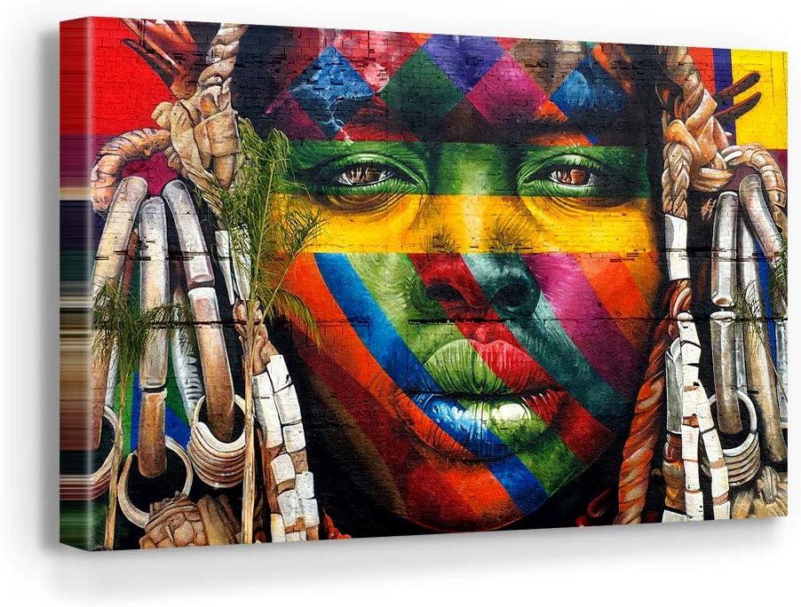 Blaze Canvas Eduardo Kobra In a popularity African Graffiti Art Wall Max 73% OFF Home