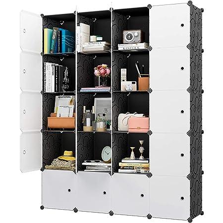 "KOUSI Large Cube Storage -14""x18"" Depth (20 Cubes) Organizer Shelves Clothes Dresser Closet Storage Organizer Cabinet Shelving Bookshelf Toy Organizer"
